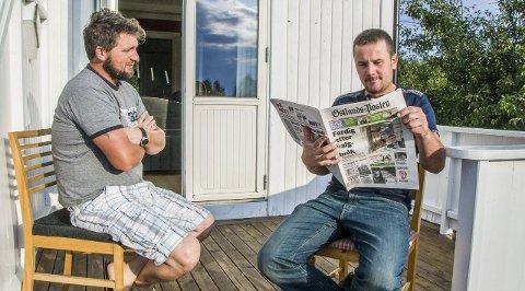 Uforstående: Tomasz Durbas (t.v.) og Zdzislaw Bereta tar sin venn og arbeidsgiver i forsvar. Foto: Lasse Nordheim