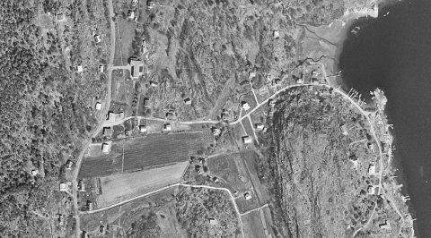 Grimestadstranda i gamle dager: Bildet er fra mellom 1959-1979. Foto: 1881