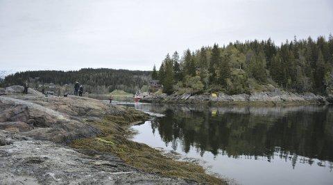 Folksomt: Straumkjeften er et populært fiskested.