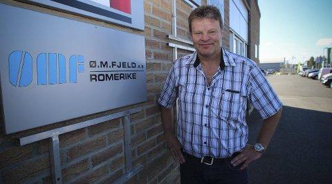TRAVLE TIDER: Ø. M Fjeld bygger flere boliger på Jessheim enn noen gang. Regionsjef for Romerike, Ole Johan Krog, ser for seg en enda større utvikling på boligsiden i tiden framover. FOTO: MARIANNE ENGER