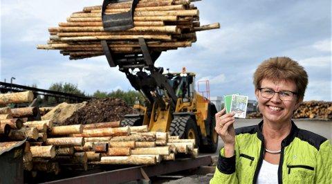 Grønt: Førstekandidat fra Senterpartiet, Katrine Kleveland, vil ha grønne arbeidsplasser. Foto: Olav Nordheim