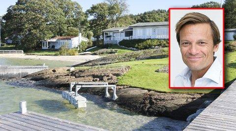 ULOVLIG SAND: Morten Angelil fylte på cirka 200 tonn skjellsand på stranden på eiendommen i Holmsbrekkene som han kjøpte i 2005 for 12.250.000 kroner.
