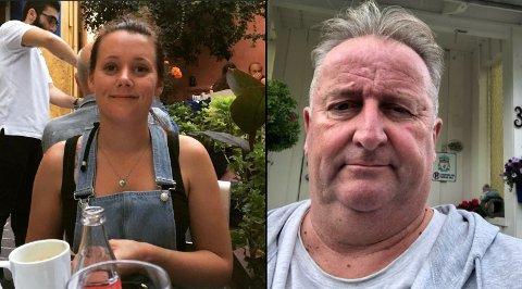 NABOER: Marianne Abrahamsen (34) og naboen Morten Hem (60) i Husebygrenda på Vesterøya stakk av med hver sin gevinst i Postkodelotteriet denne uka. – Jeg fikk helt sjokk, sier Morten til Sandefjords Blad. Foto: Privat