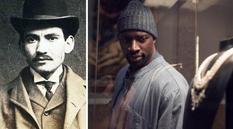 Til venstre er mannen som skal ha inspirert de mange historiene om den fiktive Arsène Lupin, som nå portretteres av Omar Sy i Netflix-suksessen «Lupin».