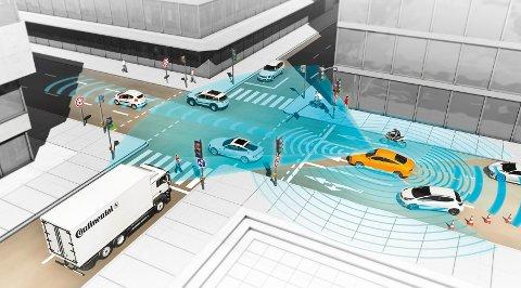 I framtiden kan vi få biler som kjører av seg selv.