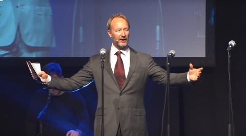 Kjetil André Aamodt var en av konferansierene under Vestfold Idrettsgalla.