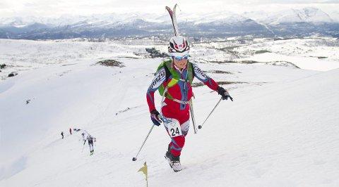 Skidronning: Hildegunn Gjertrud Hovdenak klinket til med seier både i randoneekonkurransen og i fjelltelemarkrennet. foto: Daniel Kvalvik