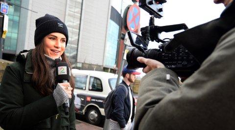 TV 2-reporter Ingrid Halstensen har travle dager i England.