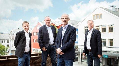 Fokus Kapitalforvalgning eies med en fjerdedel hver av Johan Frisvold (fra venstre), Knut Olsen, Arild Rødal og Erik Ohr.