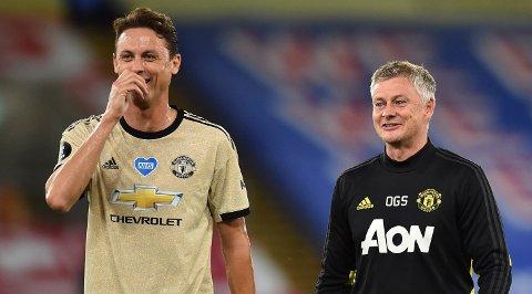 Nemanja Matic (til venstre) og Ole Gunnar Solskjær håper på en bra sesong for Manchester United.