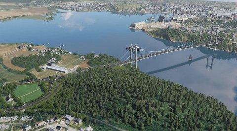 KAN BLI DROPPET: Med det nye politiske flertallet i Færder kan den planlagte brua til Smørberg bli droppet. I stedet vil flertallet se på ny bru lenger sør, samtidig som bedre forbindelse mot Frodeåstunnelen i Tønsberg langs Ringveien skal utredes.