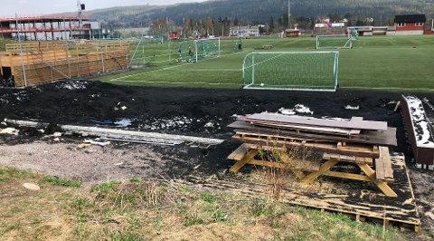 TRENGERVÅRPUSS:Slik så det ut rett før helga i skateparken i sentralidrettsanlegget på Rotnes.