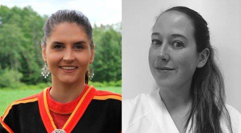 UNGEBLÅ:Det nye kommunestyrets to yngste representanter; f.v. Andine Knudtson (25) og Susan Bakke (33).