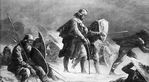 Hardt vær: Kong Sverre Sigurdsson i knallhardt krigsvær.