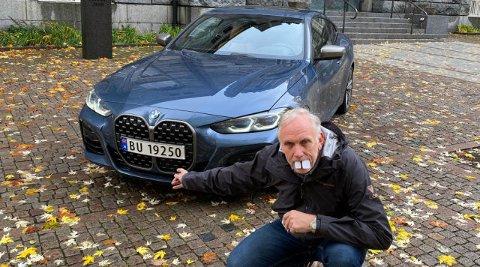 Broom-Benny forsøker å vise hva han ikke liker med nye BMW 4-serie.