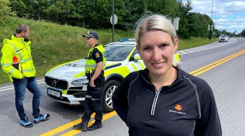 Anine Larsen i Statens vegvesen er på plass ved Oslofjordtunnelen mandag. Hun forteller om hva som skjer videre.