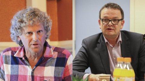 Knut Henning Thygesen (Rødt) reagerer kraftig på at Sørlandet plasseres på vent i Nasjonal transportplan frem mot 2030. Han får støtte fra Rune Hagestrand (H), leder av Jernbaneforum Sør. Arkivfoto