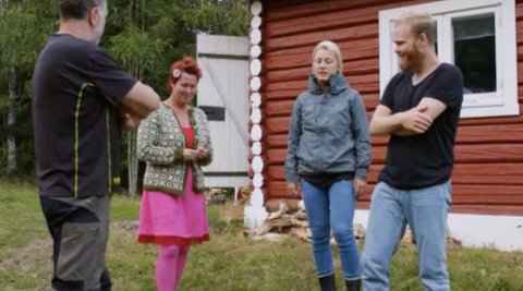 Det ble et kortvarig opphold på husmannsplassen for Lene Egeland Hogstad (44). Foto: TV 2