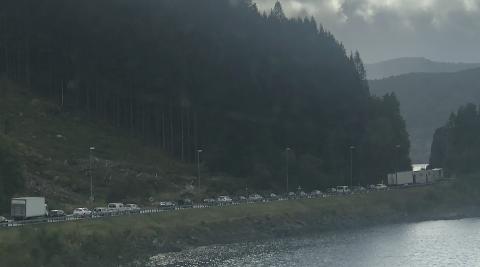 Bilister på E39 opplevde kø i nærheten av Tronvik onsdag ettermiddag.