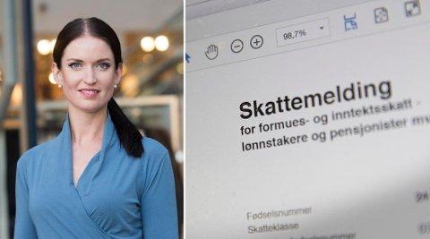 TAPSPROSJEKT: Anne Motzfeldt i Danske Bank advarer mot folk som betaler ekstra i skatt for å få mer igjen neste år. Foto: Terje Bendiksby / NTB scanpix