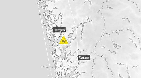 Det er meldt kraftig vind på Vestlandet mandag ettermiddag og kveld. Det er også sendt ut farevarsel.