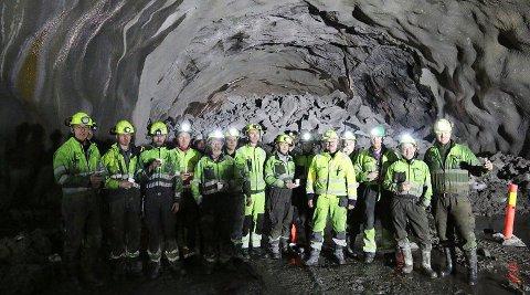 TUNNELGJENGEN: BetonmastHæhre bygger tunnelen på rv. 77 i Nordland.