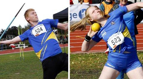 Søskenparet Ellevine (16) og Felix Skare (15) fra Ytre Enebakk kom hjem fra årets UM (NM for yngre) med en rekke medaljer.