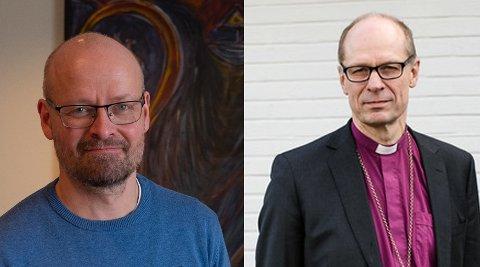 HISTORISK: Sokneprest Onar Haugli og biskop Olav Øygård tror begge det er en historisk begivenhet at det stenges ned.