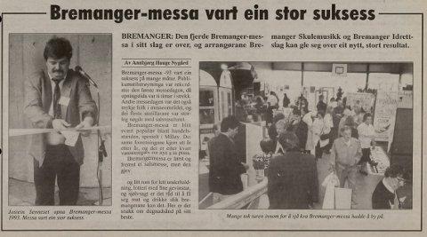 Bremanger-messa vart ein stor suksess, skreiv Firdaposten i same avis.