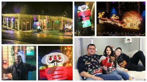 GLADE I JUL: Dei er litt ekstra glade i jul i Solhaugvegen.