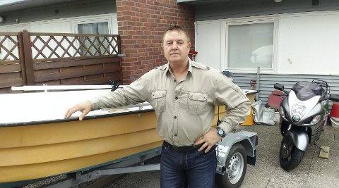 Andre hobbyer: Rune Johansen liker også å dra ut i båt og kjøre motorsykkel.