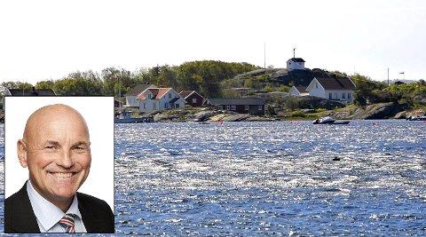 Tom Erik Tidemann-Andersen (61), med bodstedadresse her på Herføl, topper formuelista på Hvaler med 198 millioner kroner.