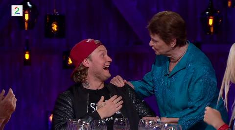 Overrasket: Gro møtte Petter Katastrofe i kveldens program av «Hver gang vi møtes»