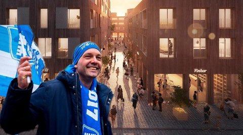 Sarpsborg-ordfører Sindre Martinsen-Evje lar seg imponere av sentrumsutviklingen i Fredrikstad. – Forvandlingen av Nygaardsplassen er noe vi kan lære av, sier han.