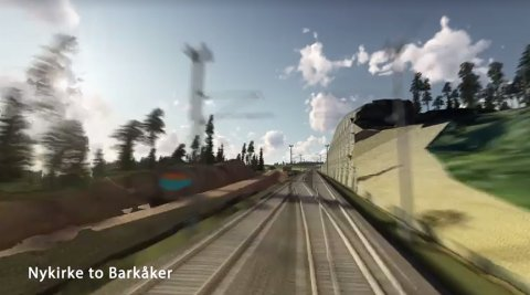 SUSER AVGÅRDE: Går alt etter planen skal det være mulig å suse avgårde i over 200 km/t langs det nye dobbeltsporet mellom Barkåker og Nykirke fra slutten av 2024.