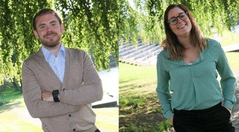 Tom Kalsås og Hanne Marte Vatnaland er Gjesdals representanter i fylkestinget i perioden 2019-2023.