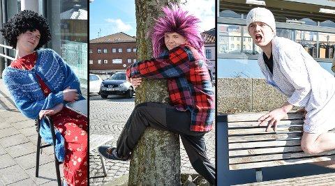 SKAPER KARAKTERER: Martin Kingsrød Larsen elsker teater og har utviklet et stort persongalleri. Gudrun (t.v.) kommer fra Nord-Norge og jakter på et yrke som passer for henne. Arnfinn Birke Irke Sirken elsker både natur, trær og rock, og Hjertrud er en karakter som er både 5 år og 85 år litt avhening av når du treffer henne. Gudrun kan du bli bedre kjent med i videoen lenger ned i artikkelen.