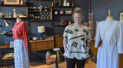 DRØMMEN BLIR VIRKELIGHET: Eirin Nybakken har lenge fundert på å starte opp en retrobutikk og i april bestemte hun seg for å satse. I Seminargata fant hun drømmelokalet og i neste uke er «Icon Retro» klar for åpning.