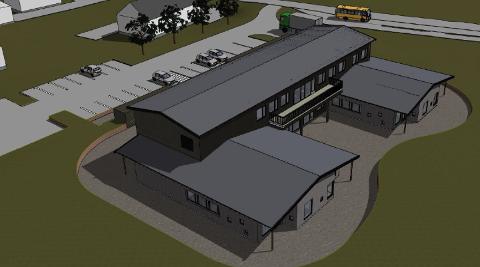 Den første anbudsrunden førte ikke fram. Nå håper Fet kommune å finne en entreprenør som kan bygge nye Dalen barnehage, blant de fem som har levert tilbud.