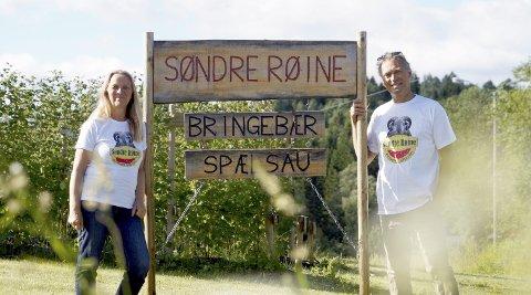 Velkommen: Et hyggelig par på Søndre Røine Gård, Anita Myre og Kurth Tvinnereim.