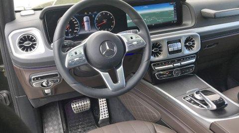 Høy kvalitetsfølelse i interiøret, her kjenner vi også igjen svært mye fra øvrige Mercedes-modeller.