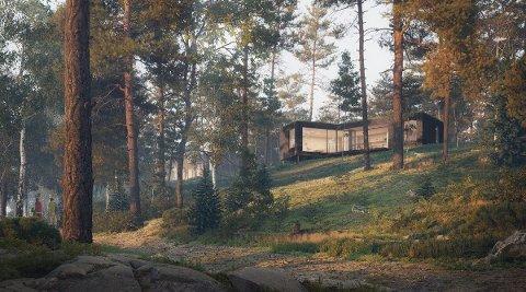 Ved Storesand på Oven i Råde finnes det muligheter til å kjøpe seg en splitter ny hytte nå. Denne fritidseiendommen er en av få muligheter i markedet akkurat nå.