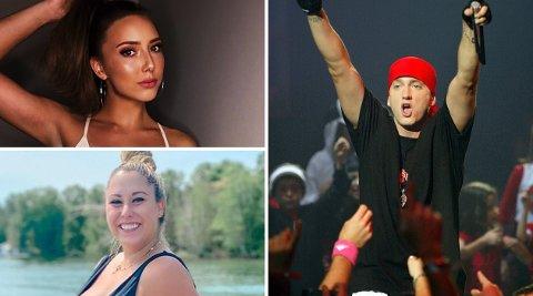 Eminems tre døtre ble stadig vekk nevnt i noen av de største raplåtene hans, og slik går det med de tre jentene i dag. Avbildet: Hailie Jade og Aliana «Lainey».