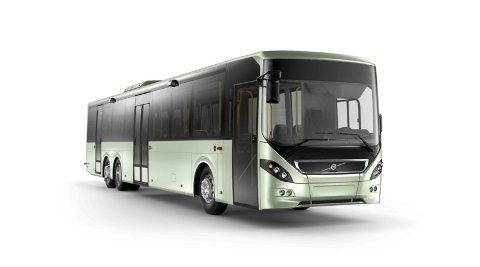 Disse bussene skal fra neste år rulle i Tromsø Volvo 8900.