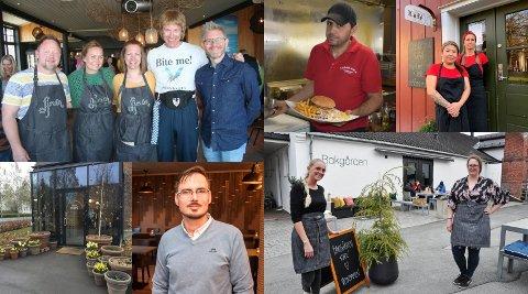 SMILEFJES: Fjorn, Casablanca Kjøkken, Drengestua Kafé, Lokstallen Røykenvik, Fønix Restaurant AS og Bakgården kan juble over smilefjes.