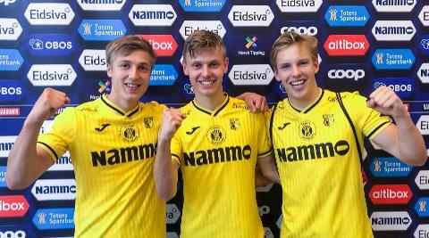 3xMARKUS: De sto bak fire av fem fra venstre Markus Karlsbakk Markus Johnsgård og Markus Aanesland.