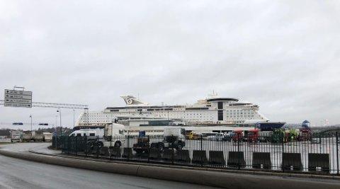 Det har tidligere vært meldt om smitte ombord på Color Magic, som trafikkerer Oslo-Kiel. Her fra Hjortneskaia.