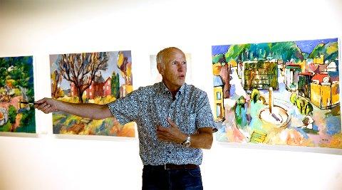 PÅ LANDET: Åke Berg og Dr. Nielsen tar med seg utstilling og konsertsuksessen fra sist sommer en tur på landet.