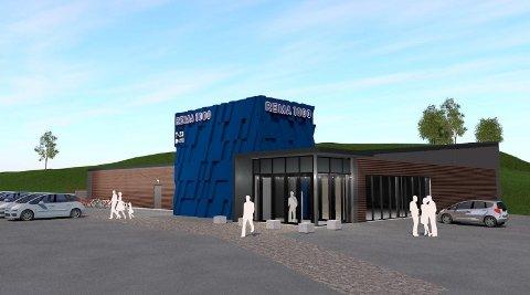 NY BUTIKK: Rema skal bygge ny butikk i Svarstad, og denne illustrasjonen viser hvordan den blir seende ut. Åpningsdatoen er satt til 31. oktober.