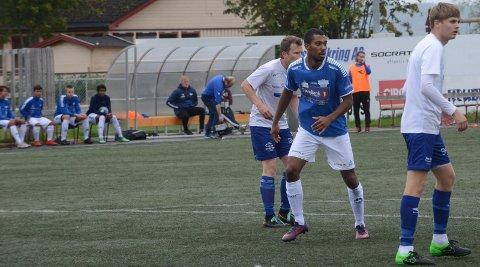 TILBAKE PÅ BANEN: Sprinter Jonathan Quarcoo gjorde comeback på fotballbanen for Flisa i 4. divisjon lørdag.
